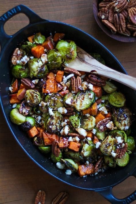 Roasted Brussel Sprouts & Sweet Potatoes | MyFitnessPal