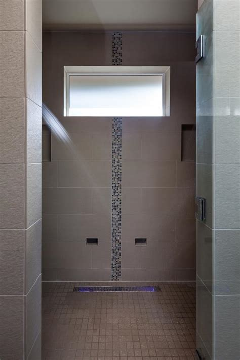 Spa-Like Master Bath Shower With Vertical Accent Tile   HGTV